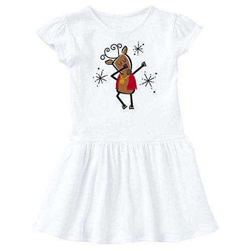 inktastic - Dabbing Dancer Reindeer Infant Dress 18 Months White 2dde0 ()