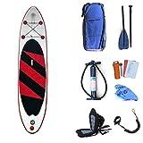 HgzBxL Recreación al Aire Libre Deportes acuáticos Surf Portátil Lake Travel Inflable Stand Up Paddleboard Sup con Almacenamiento Mochila, Correa, Pala y Bomba