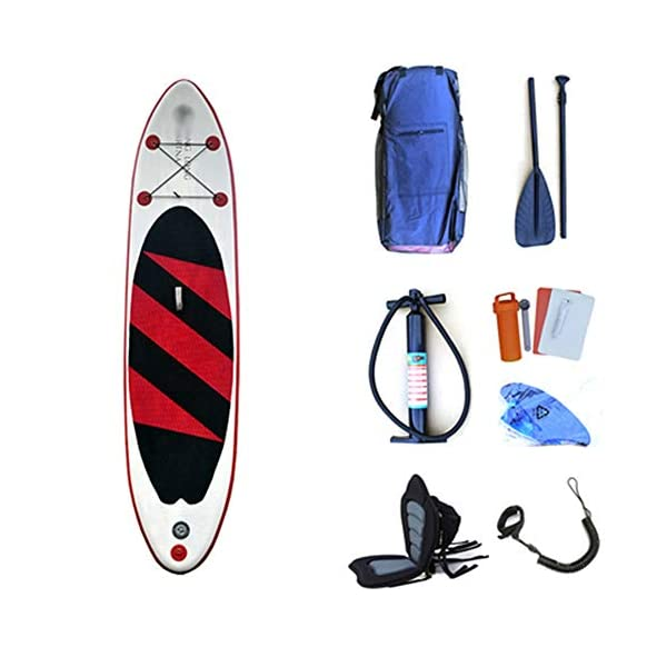 Kanqingqing-Sport Stand Up Paddel Gonfiabile Lago di Viaggio Gonfiabile Stand Up Paddleboard SUP con Lo Zaino Bagagli… 1 spesavip