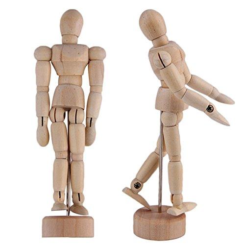 KURTZY 2 Pcs Wooden Mannequins - 12