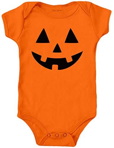Babys First Halloween Costume Bodysuits, Jack O' Lantern, Pumpkin Face Onesie (6 Months)