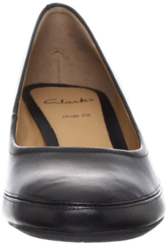 Clarks Denny Mellow Black Leather 4 UK E / 37 EU
