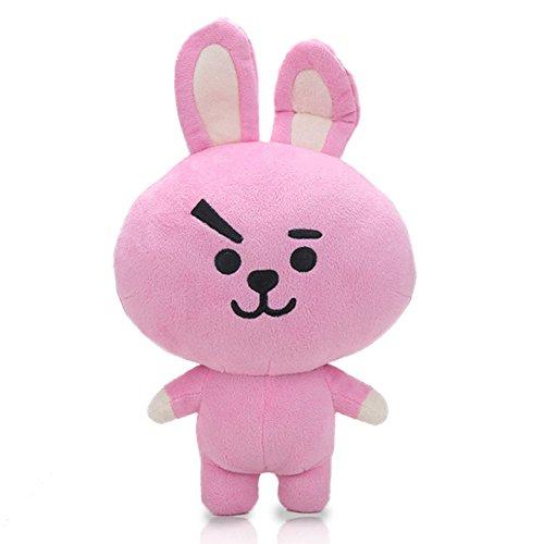 Amyove Kpop BTS BT21 Bangtan Boys Plush Cushion Stuffed Toy Dolls TATA COOKY CHIMMY SHOOKY MANG KOYA Best Gift for Kids Pink rabbit 33cm