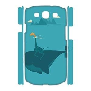 3D Samsung Galaxy S3 Case, Nature's Submarine Case for Samsung Galaxy S3 {White}