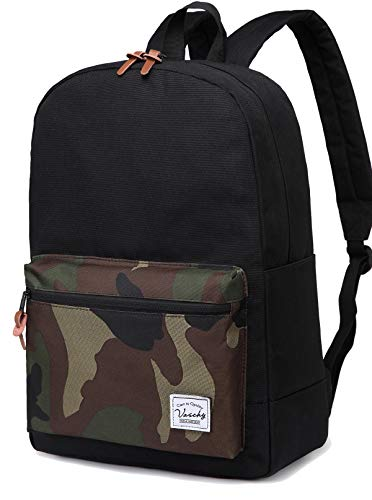 Vaschy Casual Lightweight Travel Rucksack Tear Resistant School Laptop Backpack