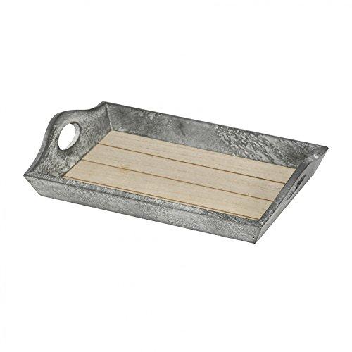 Holztablett klein ca. 23x15x4,5cm Kerzentablett Holz Tablett Deko Teetablett antik Landhausstil