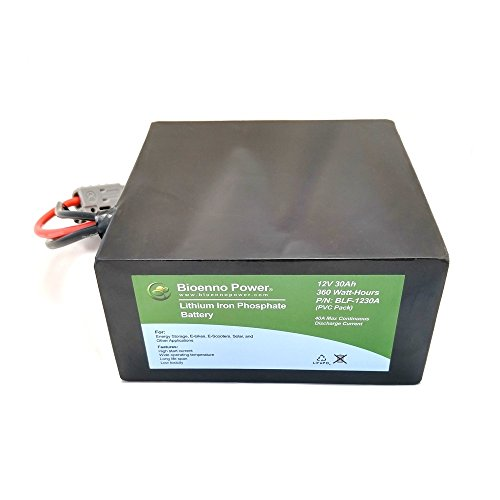 Bioenno Power 12V, 30Ah LFP Battery (PVC, BLF-1230A) (Stationary Power Distribution Unit)