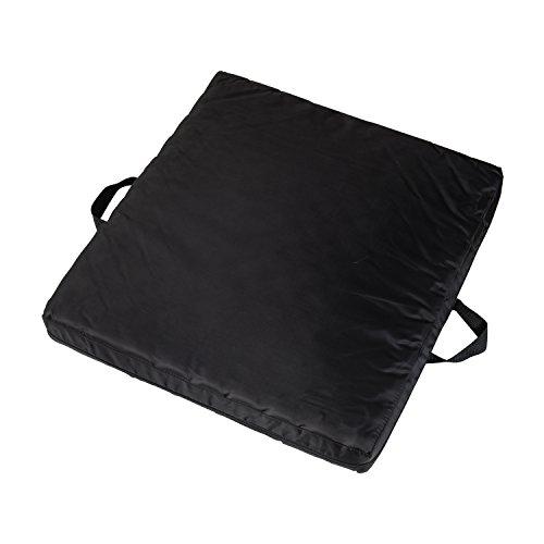 DMI Gel Foam Comfort Seat Cushion - Wheelchair Cushion, Black - Comfort Wheelchair Padding