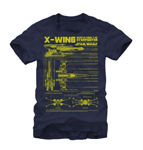 Fifth Sun Star Wars X-Wing Starfighter Mens T-Shirt (2X-Large)]()