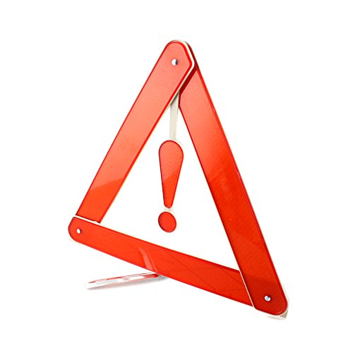 Auto Warning Triangle (Car Auto Foldable Reflective Road Breakdown Safety Hazard Emergency Warning Triangle)