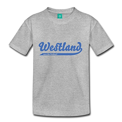 Price comparison product image Westland Bestland Toddler Premium T-Shirt by Spreadshirt, Youth 4T, heather gray