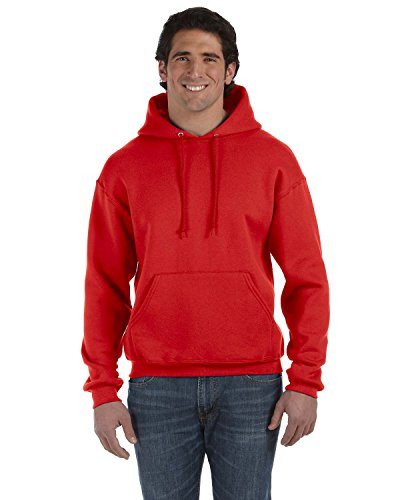 Product of Brand Fruit of The Loom Adult 12 oz Supercotton Pullover Hood - True RED - XL - (Instant Savings of 5% & More)