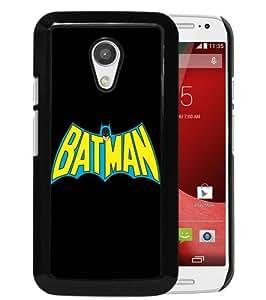 Hot Sale Moto G 2nd Case,Batman Vintage Logo Black Motorola Moto G 2nd Generation Screen Phone Case Popular and Elegant Design