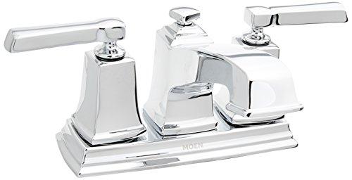 (Moen WS84800 Boardwalk Two-Handle Low Arc Bathroom Faucet, Chrome)