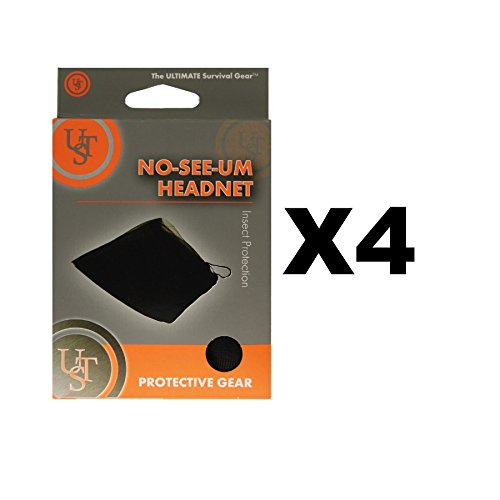 Ultimate Survival Technologies No-See-Um Head Net Black Camping Mosquito(4-Pack)