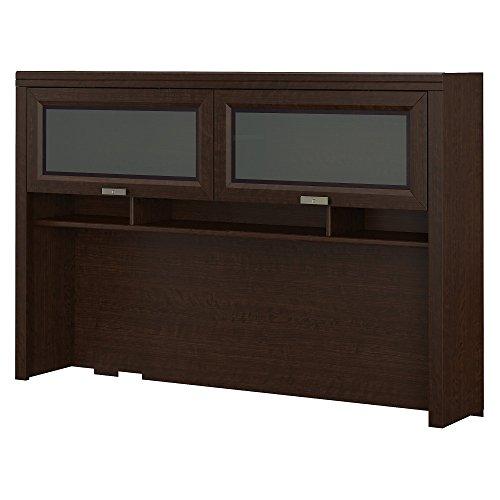 Tuxedo Cherry L-shaped Desk Mocha (Bush Furniture Tuxedo Hutch in Mocha Cherry)