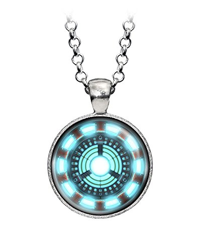 Arc Necklace - Arc Reactor Necklace, Iron Man Ironman Pendant, The Avengers Jewelry, Shield Pendant, Superhero Earrings Gifts Gift, Geek Geeky Present Presents