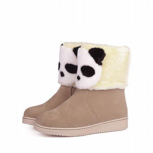 Carol Scarpe Carino Donna Inverno Utilizzare Moda Panda Modello Bella Calda Scarponi Da Neve Piatta Cammello