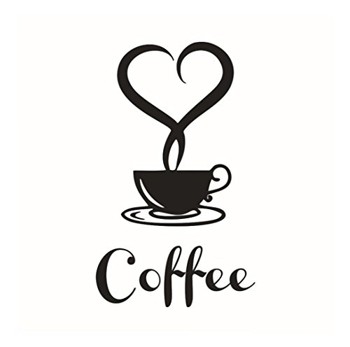 LUNIWEI Removable DIY Kitchen Decor Coffee Cup Decals Vinyl Mug Wall Sticker