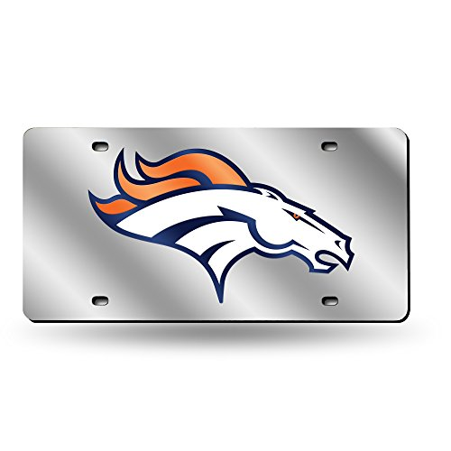 Rico Industries NFL Denver Broncos Laser Cut Auto Tag, Silver from Rico Industries