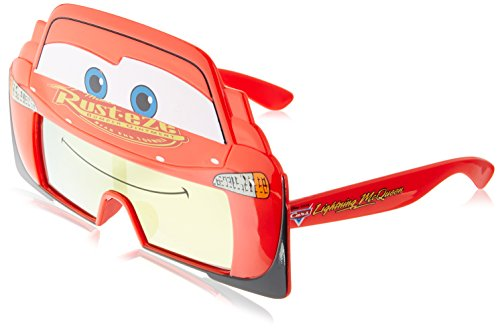 Sunstaches Cars Lightning Mcqueen Sunglasses]()