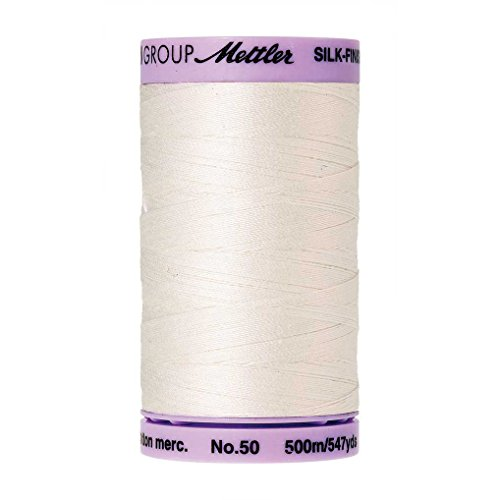 Mettler Silk-Finish Solid Cotton Thread, 547 yd/500m, Candlewick