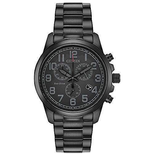 Citizen Men's Chandler Quartz Stainless Steel Strap, Black, 20 Casual Watch (Model: AT0205-52E)