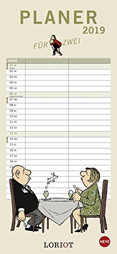Loriot Planer für zwei - Kalender 2019 Kalender – 27. Februar 2018 Heye 3840159512 Kalender / Humor Satire