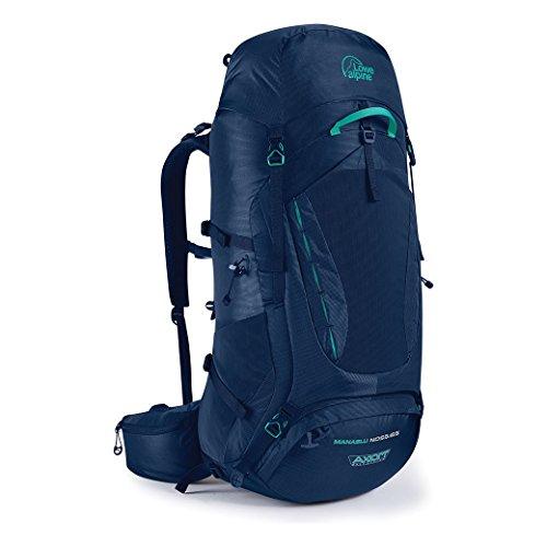 Lowe Alpine Womens Backpack - Lowe Alpine Manaslu ND 55:65 Pack - Women's Blue Print