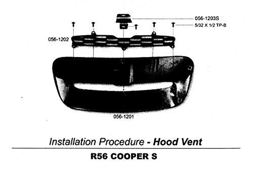 Glossy Black Hood Scoop for MINI COOPER R56 S R55/R57/R58/R59 2007~2013 by ATEX (Image #3)