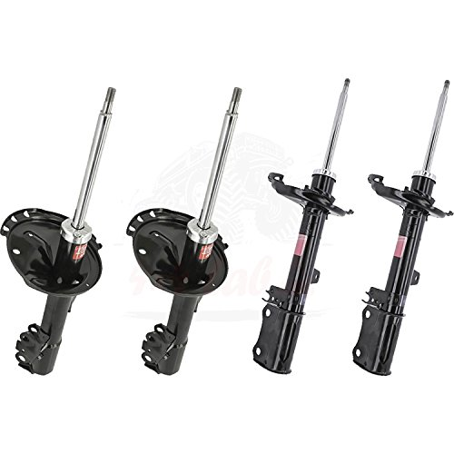 Kyb Right Rear Strut Gr2 - KYB Quick Mount Kit of 4 Struts (Front + Rear) fits LEXUS RX330 FWD 2004-06 GR-2/EXCEL-G Twin Tube Gas Charged for Replacement, Performance, Leveling, Touring & 4x4 Offroad