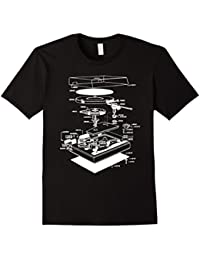 Turn table shirt - dj shirt - turn table schematic
