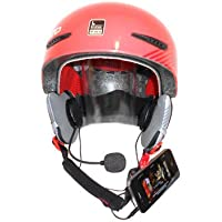 KOKKIA Sports/motorcycle helmet stereo Earphones + Microphone (Black cables), great bass and loud - can attach to iPods/iPhones/iPads/MP3/CD/Bluetooth receiver devices with 3.5mm audio jack. For normal as well as daredevil, extreme sports, skiers, snowboarders, etc helmet users.