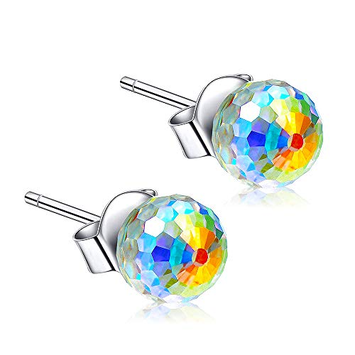 CL MENT HILTON 925 Sterling Silver Earrings Swarovski Crystal