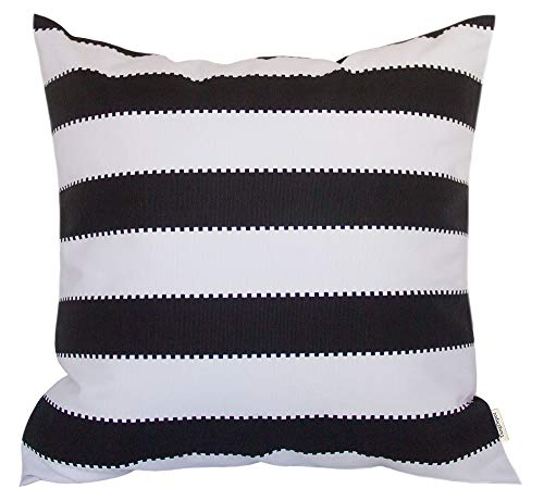 Pillow Handmade Covers Decorative - TangDepot Decorative Handmade Stripe Cotton Throw Pillow Cover, Pillow Sham, Euro sham, Indoor/Outdoor Square Cushion Cover - (22