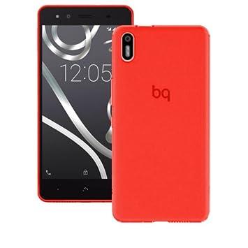Mb Accesorios Funda Carcasa Gel Roja para BQ AQUARIS X5, Ultra Fina 0,33mm, Silicona TPU de Alta Resistencia y Flexibilidad