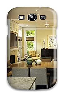 Flexible Tpu Back Case Cover For Galaxy S3 - Breakfast Room With Floor-to-ceiling Glass-front Cabinets