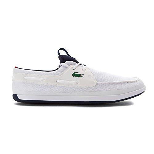 Lacoste Mens L.andsailing 316 3 Spm Boat Shoe Bianco
