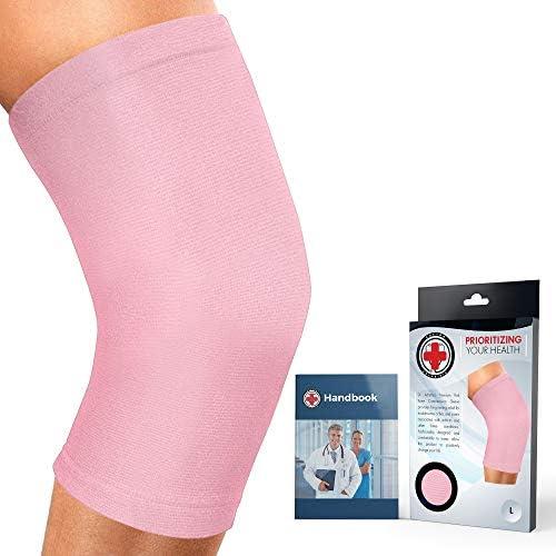 Ärztlich Entwickelte Premium Knieorthese/Kniestütze/Kniebandage (Rosa)