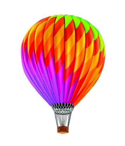 Top Selling Decals - Prices Reduced : Multi Colored Hot Air Balloon Kids Children Boys Girls Bedroom Living Room Picture Art Graphic Design Image Mural Size : 16 Inches X 32 Inches - Vinyl Wall Sticker - 22 Colors Available -