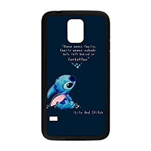 LeonardCustom Protective Hard Rubber Coated Cover Case for Samsung Galaxy S5, Lilo and Stitch -LCS5U322