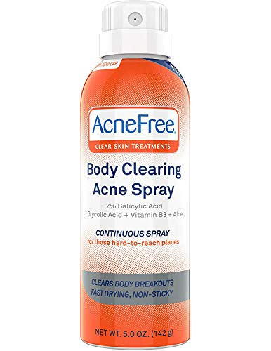 Acne Free Body Clearing Acne Treatment Spray for Body Acne and Back Acne, Treatment with Salicylic...