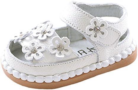 C-Princess ベビー 女の子 サンダル 幼児靴 キッズ 子供 女児 サマー シューズ つま先保護 お花付き 可愛い カジュアル 通園 通学 ホワイト 13.0cm