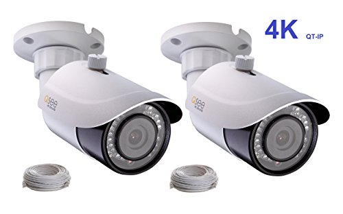 (Q-See 4K (8MP) 2-pack QT-IP Camera IP Ultra-HD with H.265 (2x)