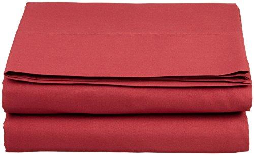 Clara Clark Supreme 1800 Collection Single Flat Sheet, Queen, Burgundy Red by Clara Clark