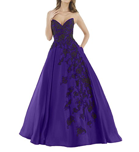Abiballkleider Brautmutterkleider Abschlussballkleider La Brau Satin A 2018 1 Dunkel llinie Lang mia Promkleider Lila xwf0qfYU