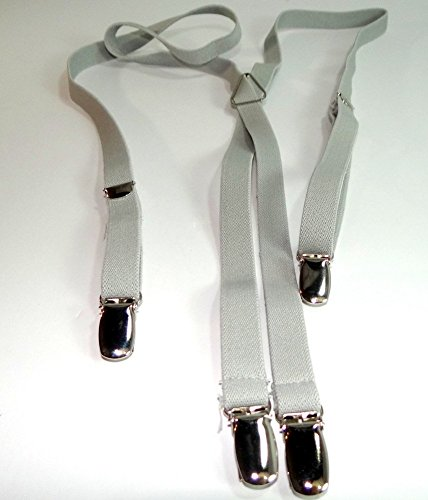 Urban Youth 1/2'' Hold-Up Suspender in X-back with No-slip Clips (Grey) by Hold-Up Suspender Co. (Image #2)