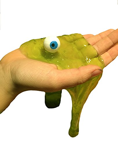 Gross Body Parts Slime / Eye, Brain, Finger - Green putty/slime