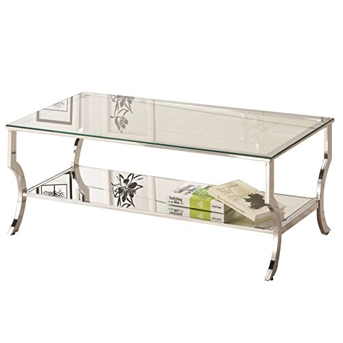 Coaster Glass Top Coffee Table In Chrome Benefits