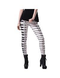 JOYHY Women's Plus Size High Waist Printed Leggings Pants Footless Tights